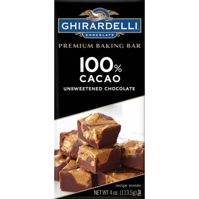 Ghirardelli Unsweetened Chocolate Bar