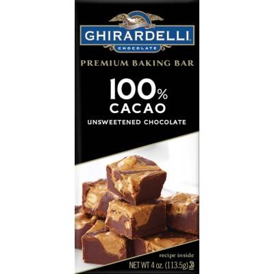 Ghirardelli Unsweetened Chocolate Bar