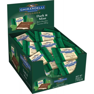 Ghirardelli Dark with Mint Filling Caddy Squares