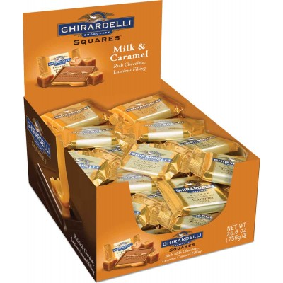 Ghirardelli Milk with Caramel Filling Caddy Squares