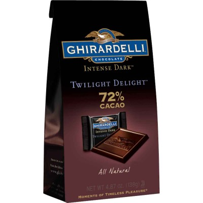 Ghirardelli 72% Cacao Twilight Delight Stand up Bag Squares