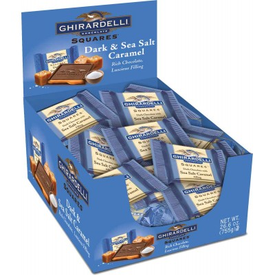 Ghirardelli Dark with Sea Salt Caramel Caddy Squares