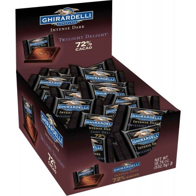 Ghirardelli Solid Dark 72% Cacao Caddy Squares