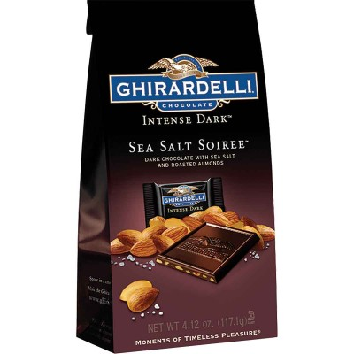 Ghirardelli Dark Chocolate Sea Salt Soiree Stand up Bag Squares