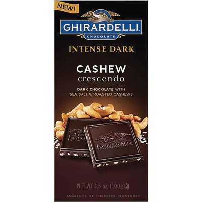 Ghirardelli Dark Cashew Crescendo Intense Bar