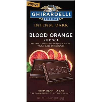 Ghirardelli Blood Orange Sunset Intense Dark Chocolate Bar