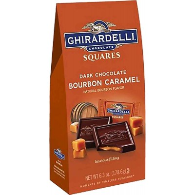 Ghirardelli Dark Chocolate Bourbon Caramel Stand-up Square Bags