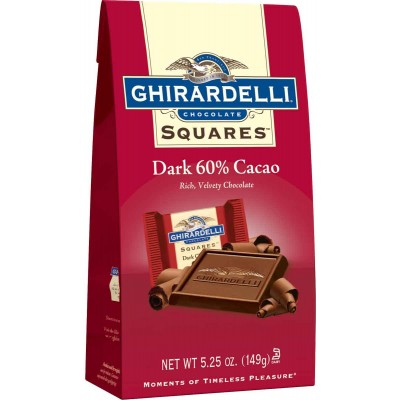 Ghirardelli 60% Dark Cacao Stand up Bag Squares