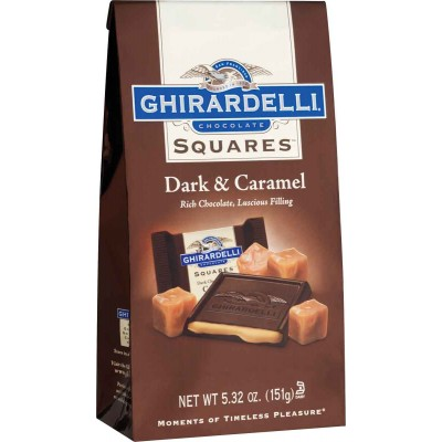 Ghirardelli 60% Dark with Caramel Stand up Bag Squares