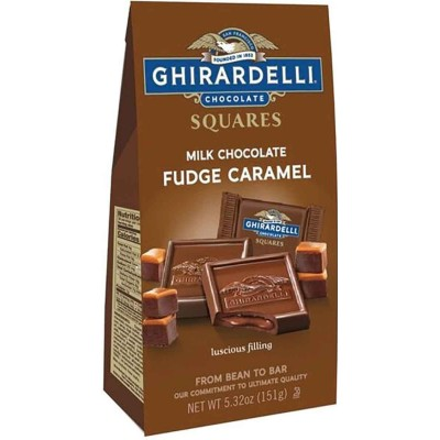 Ghirardelli Milk Chocolate Fudge Caramel Squares