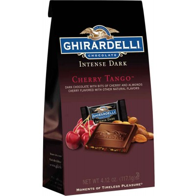 Ghirardelli Dark Cherry Tango Stand up Bag Squares