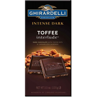 Ghirardelli Toffee Interlude with Caramelized Almonds Intense Bar