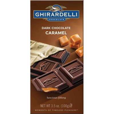 Ghirardelli 60% Dark Chocolate with Caramel Filling Prestige Bar