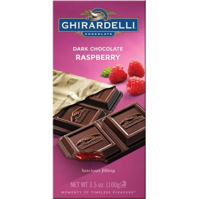 Ghirardelli Dark Chocolate with Raspberry Filling Prestige Bar