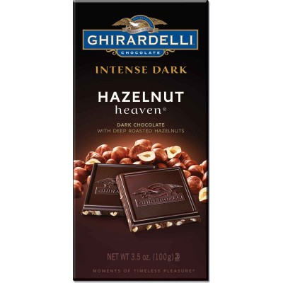 Ghirardelli Hazelnut Heaven Dark Intense Bar
