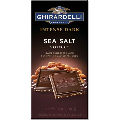 Ghirardelli Dark Sea Salt and Almond Intense Bar