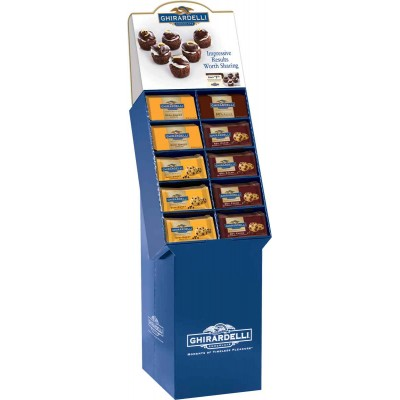 Ghirardelli Assorted Bar and Chip Baking Display 72 Piece