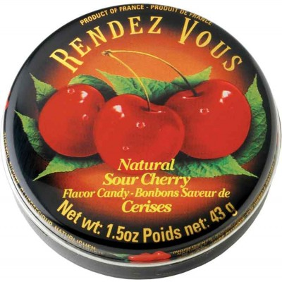 Rendez Vous Sour Cherry Candy Tin