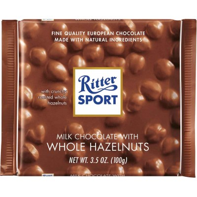 Ritter Whole Hazelnuts Chocolate Bar