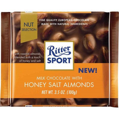 Ritter Milk Chocolate with Honey Salt Almonds Chocolate Bar