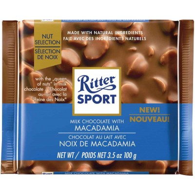 Ritter Milk Chocolate Macadamia Chocolate Bar