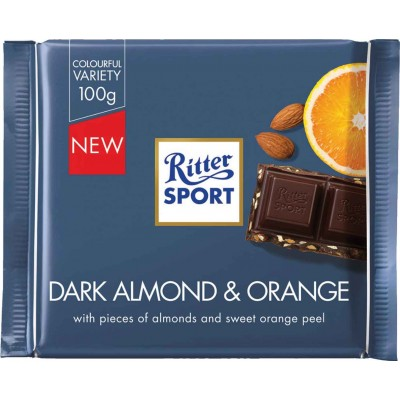 Ritter Dark Chocolate Almond Orange Bar