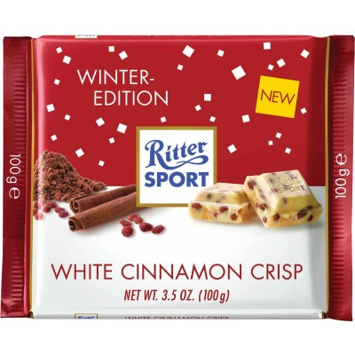 Ritter White Chocolate Cinnamon Crisp Chocolate Bar