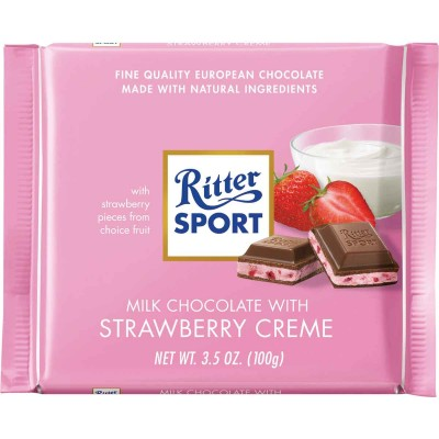 Ritter Strawberries & Creme Chocolate Bar