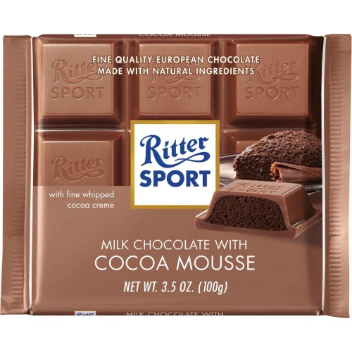 Ritter Cocoa Mousee Chocolate Bar