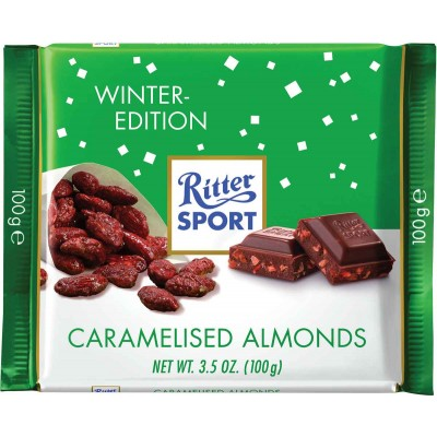 Ritter Caramelized Almond Chocolate Bar