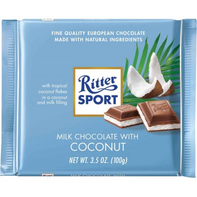 Ritter Coconut & Milk Chocolate Bar