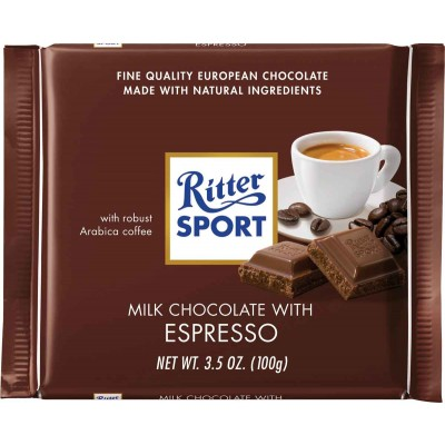 Ritter Milk Chocolate Espresso Bar