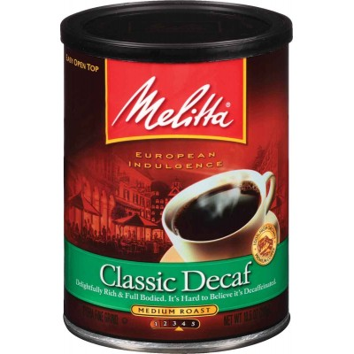 Melitta Classic Decaf Ground Coffee Canister