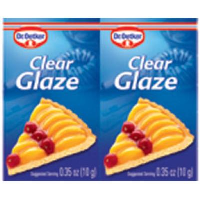 Dr Oetker Clear Cake Glaze .35 oz ea (2pk)