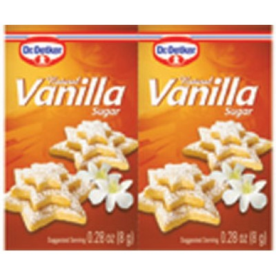 Dr Oetker Natural Vanilla Sugar .28 oz ea (6pk)