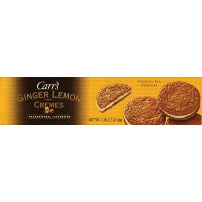 Carrs Ginger Lemon Cremes Cookie Box