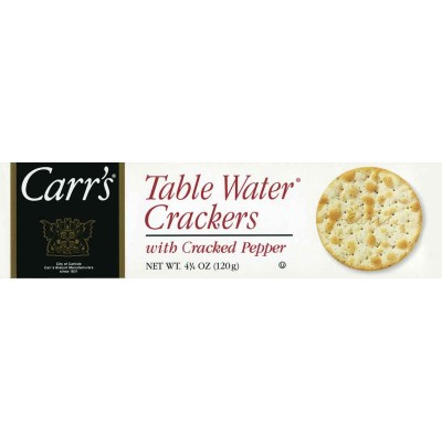 Carrs Table Water with Cracked Pepper Crackers