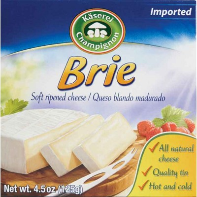 Champignon Brie Cheese Tins
