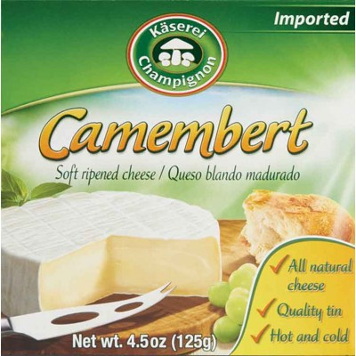 Champignon Camembert Cheese Tins