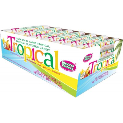 Necco Tropical Wafer Rolls