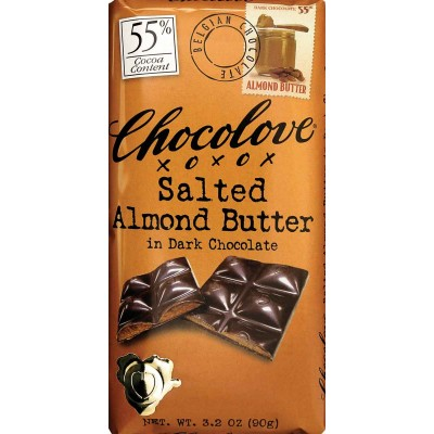 Chocolove Salted Almond Butter in Dark Chocolate Bar