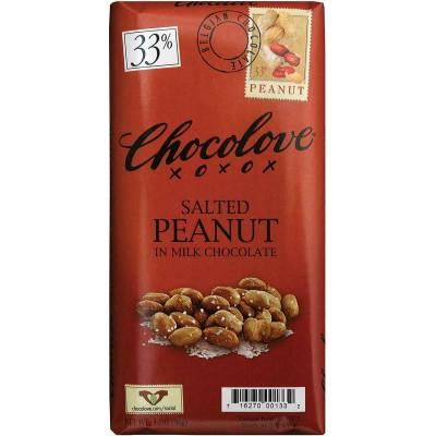 Chocolove Milk Chocolate with Salted Peanuts Bar
