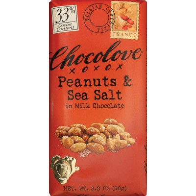 Chocolove Peanuts and Sea Salt in Milk Chocolate Bar