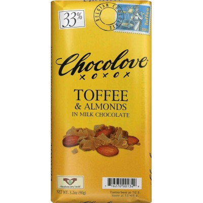 Chocolove Milk Chocolate Toffee & Almonds Bar