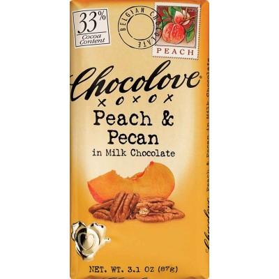 Chocolove Milk Chocolate with Peach & Pecan Bar
