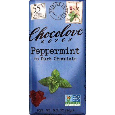 Chocolove Peppermint in Dark Chocolate Bar
