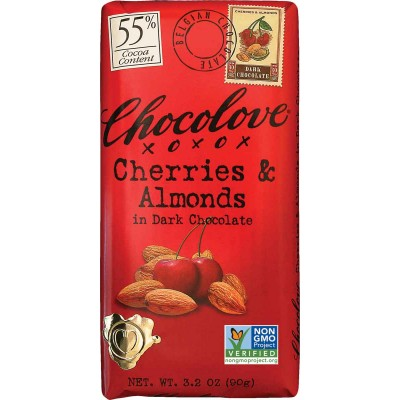 Chocolove Cherries & Almonds in Dark Chocolate Bar