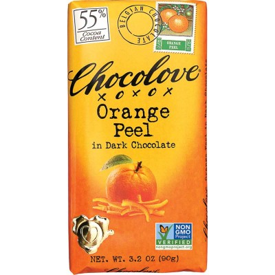 Chocolove Orange Peel in Dark Chocolate Bar