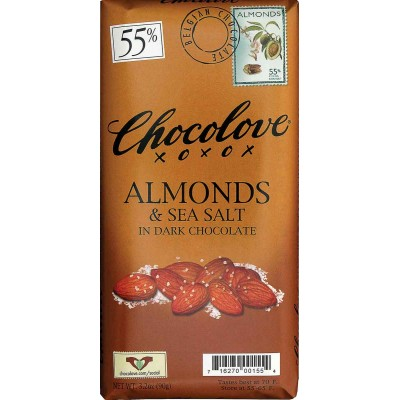Chocolove Dark Chocoloate with Almonds & Sea Salt Bar
