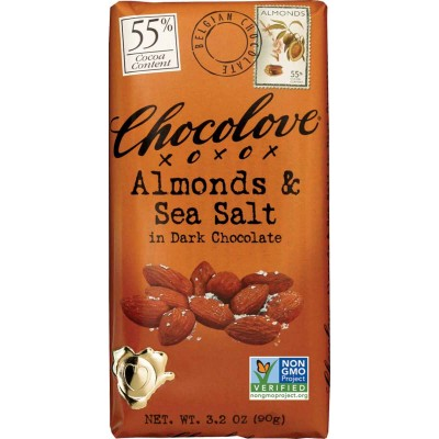 Chocolove Almonds & Sea Salt in Dark Chocolate Bar